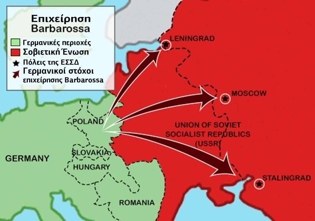 της ΕΣΣΔ Γερμανικοί στόχοι επιχείρησης Barbarossa