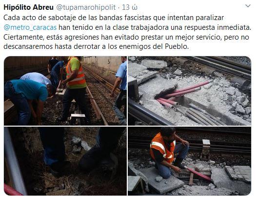 ataque Metro de Caracas