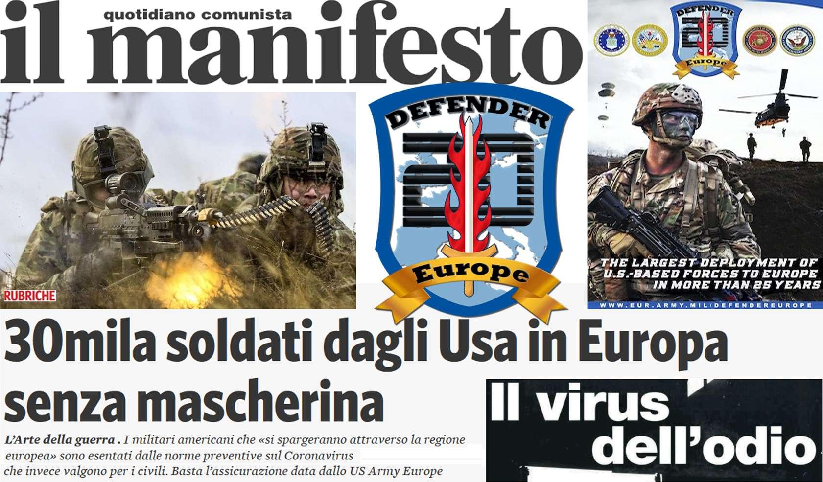 Απατηλές μάσκες του κορανοϊού στα μάτια 30.000 Αμερικανοί στρατιώτες εισβάλουν στην Ευρώπη