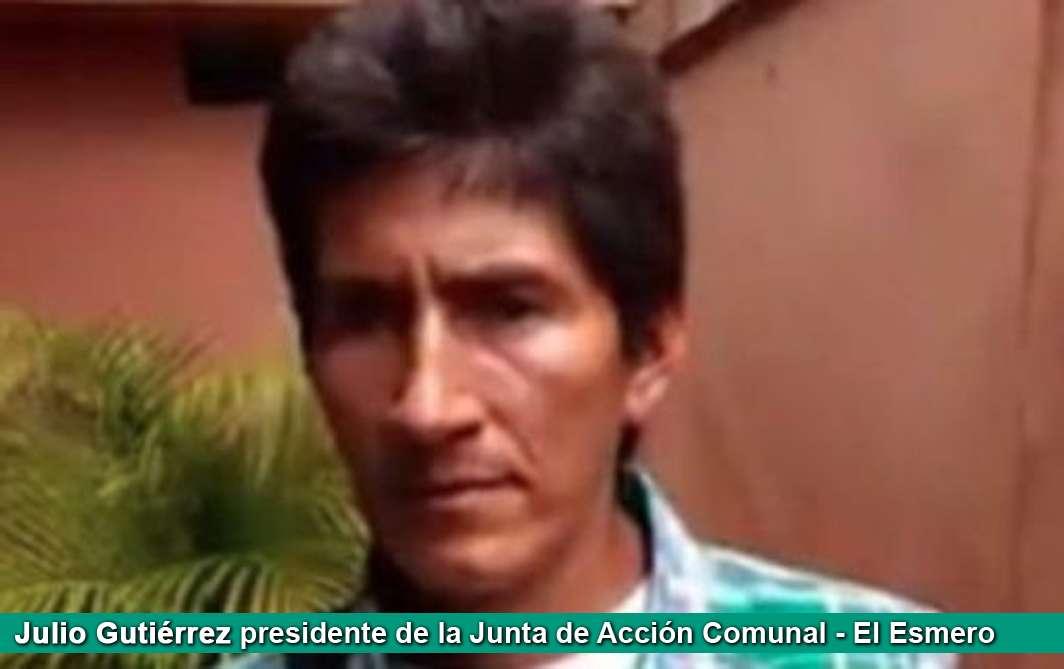 Julio Gutiérrez presidente de la Junta de Acción Comunal El Esmero