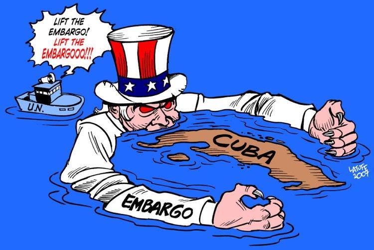 Cuba Bloqueo Latuff
