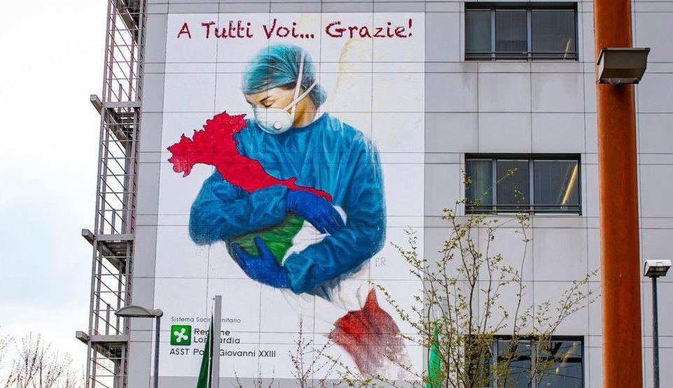 italia coronavirus graffiti