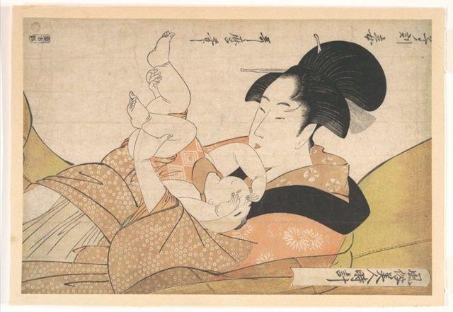 «Μεσάνυχτα: Μητέρα και Νυσταγμένο Μωρό»