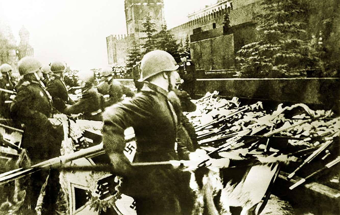 Κόκκινος Στρατός Ημέρα Νίκης 200 λάβαρα SS μαυσωλείου Λένιν