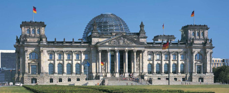 τρούλος του Ράιχσταγκ στο Βερολίνο του διάσημου βρετανού αρχιτέκτονα Νόρμαν Φόστερ