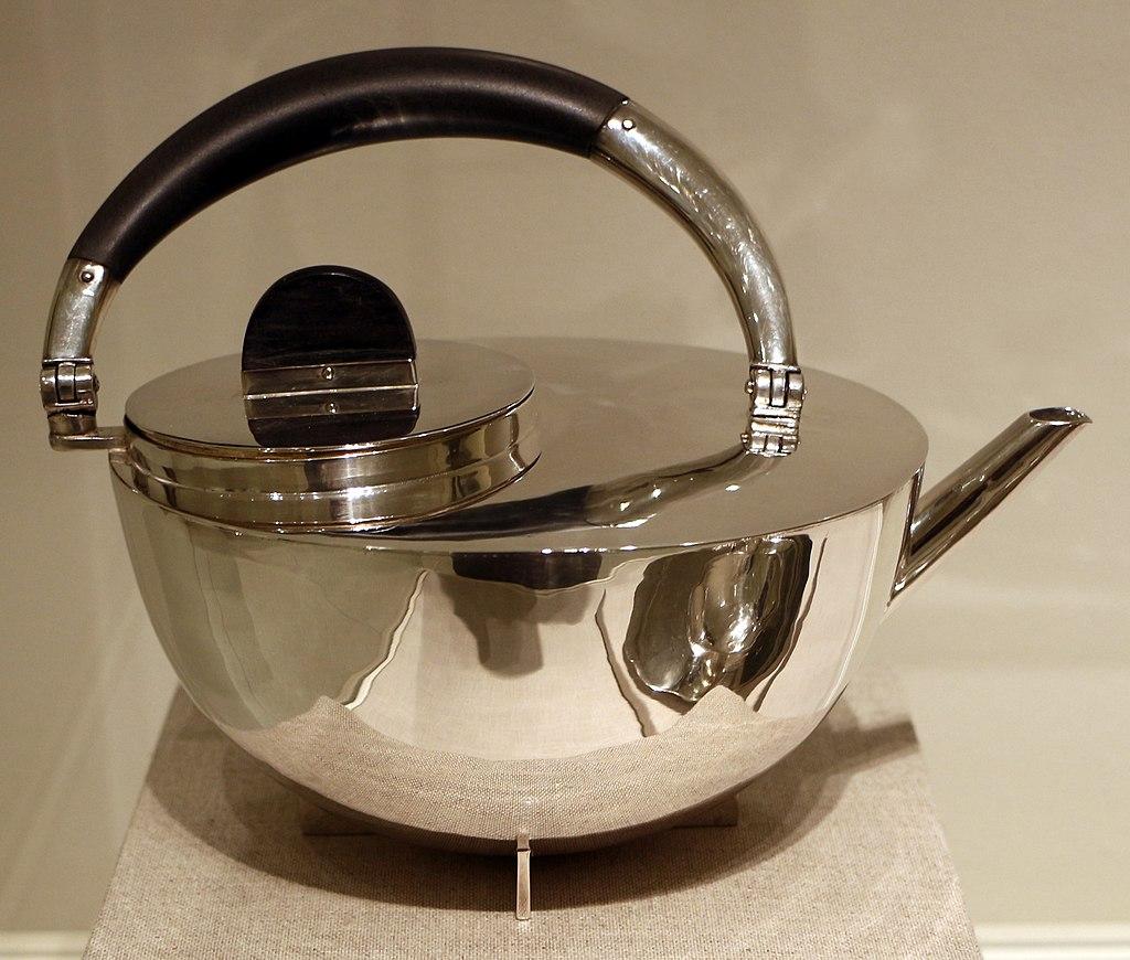 Marianne brandt bauhaus servito dathe argento edebano prodotto entro il 1929