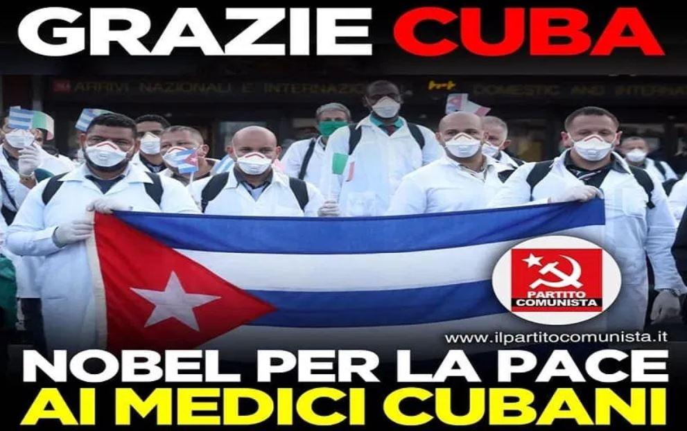 πρωτοβουλία για απονομή του βραβείου Νόμπελ Ειρήνης στους Γιατρούς της Κούβας Partito Comunista Italiano