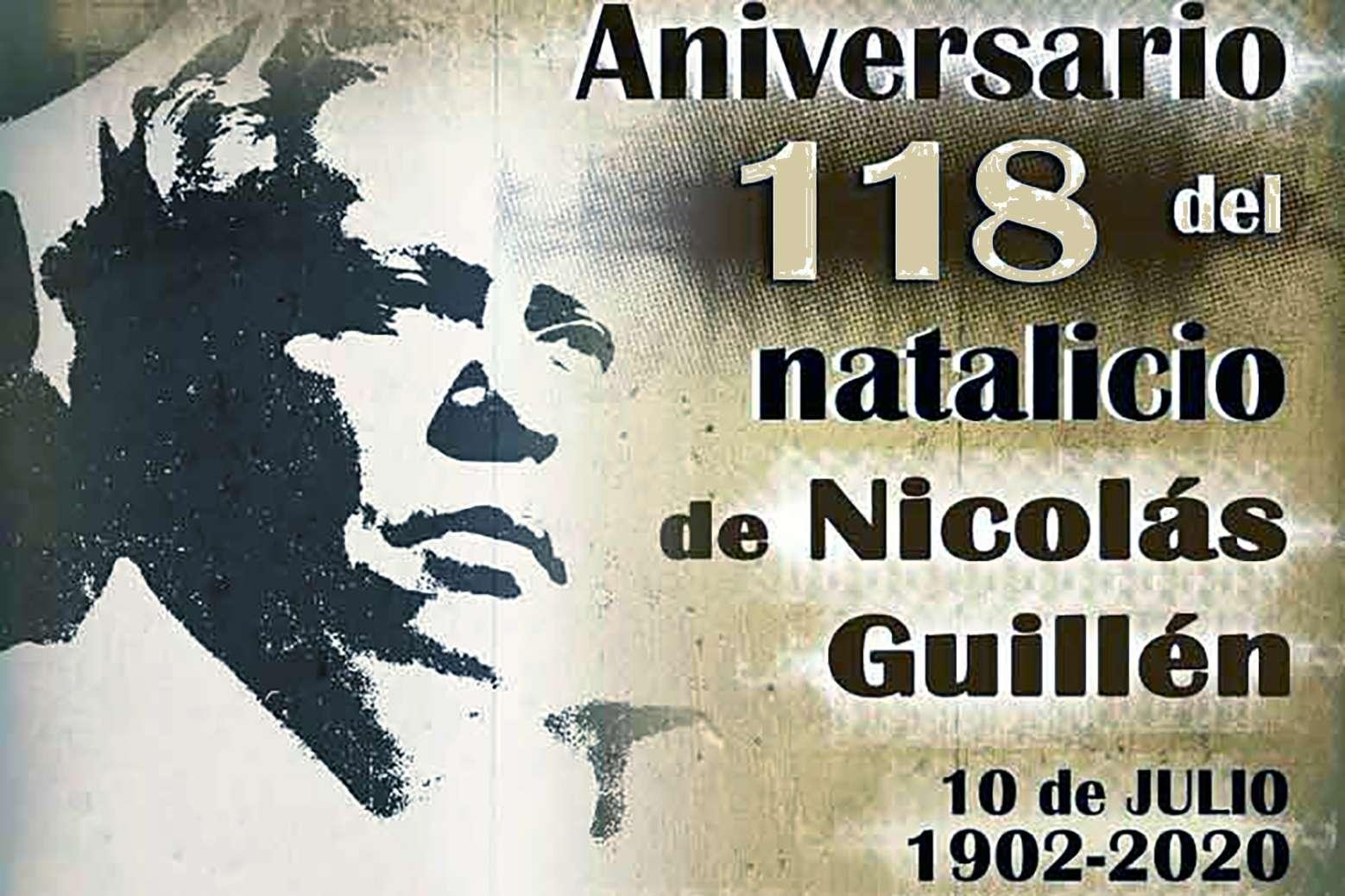 118 años del natalicio Nicolás Guillén