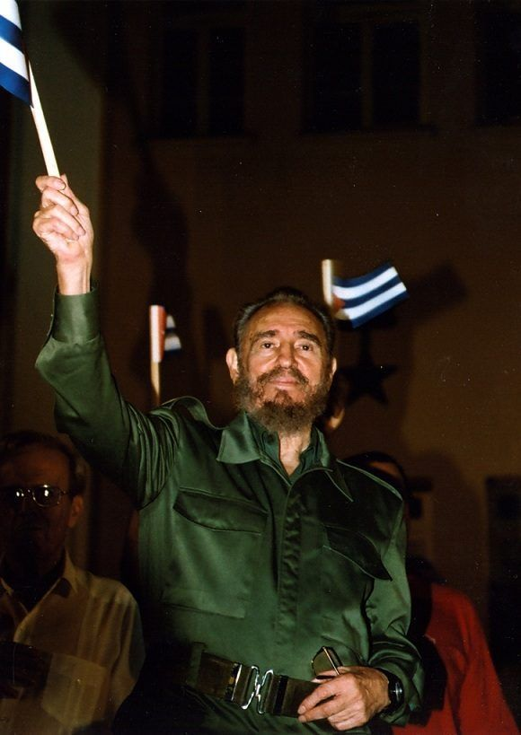 Fidel Castro durante la conmemoración del 50 Aniversario del Asalto al Cuartel Moncada efectuado en Santiago de Cuba 26 de julio de 2003