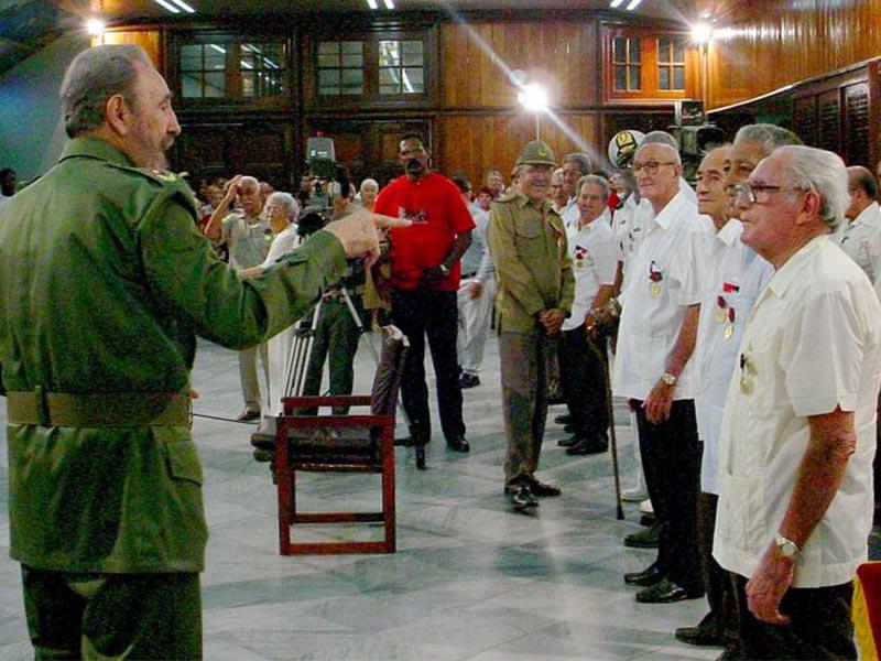 Fidel Castro durante la conmemoración del Aniversario del Asalto al Cuartel Moncada