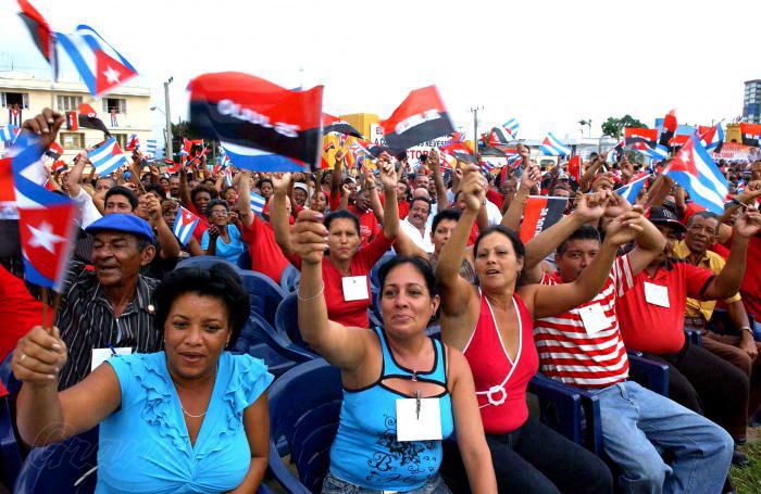 Los santiagueros festejando la fecha del 26 de Julio