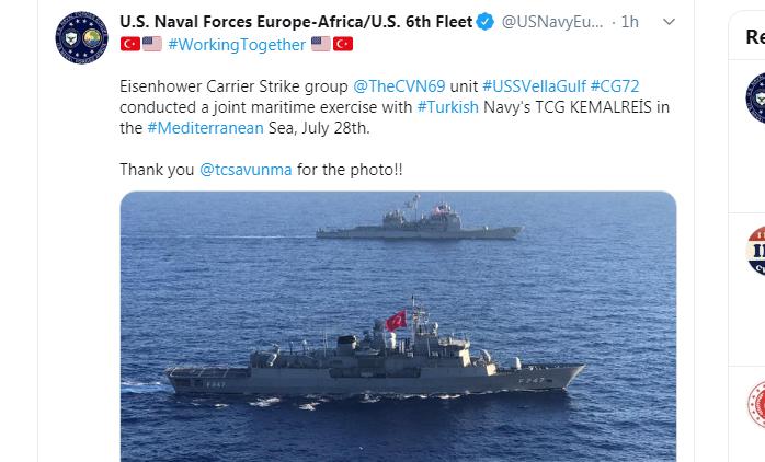 uss eisenhower turkey maritime exercise
