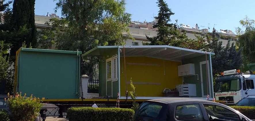 Δημοτική Αρχή Καισαριανής Χρήστος Βοσκόπουλος Κοντέινερ κλουβιά
