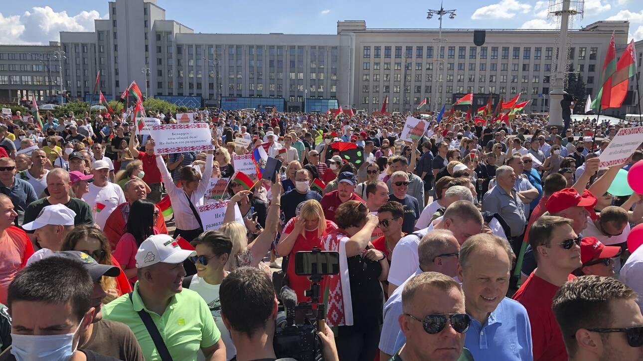 Λευκορωσία belarus οπαδοί Λουκασένκο loukasenko
