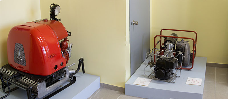 Μουσείο Πυροσβεστικές αντλίες εργαλεία τηλεπικοινωνιακό υλικό