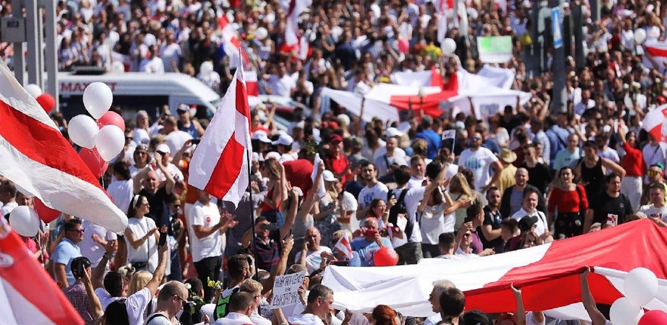 Belatus nazi flag Διαδηλώσεις
