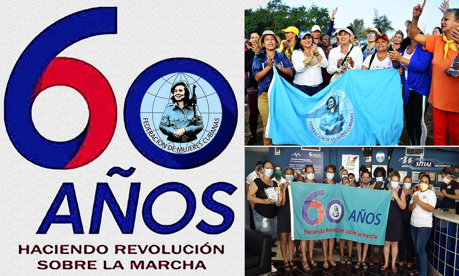Federación de Mujeres Cubanas 60 anos
