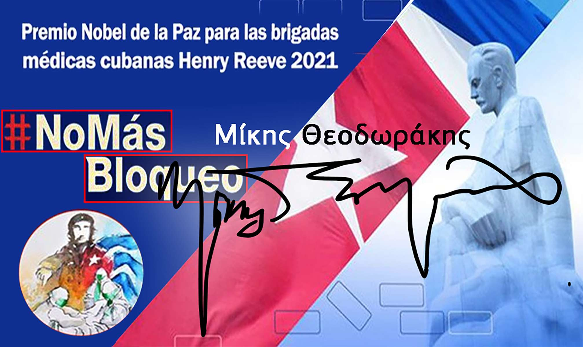 Mikis Theodorakis Μίκης Θεοδωράκης Νόμπελ Ειρήνης Henry Reeve Premio Nobel de la Paz para las brigadas médicas cubanas 2021