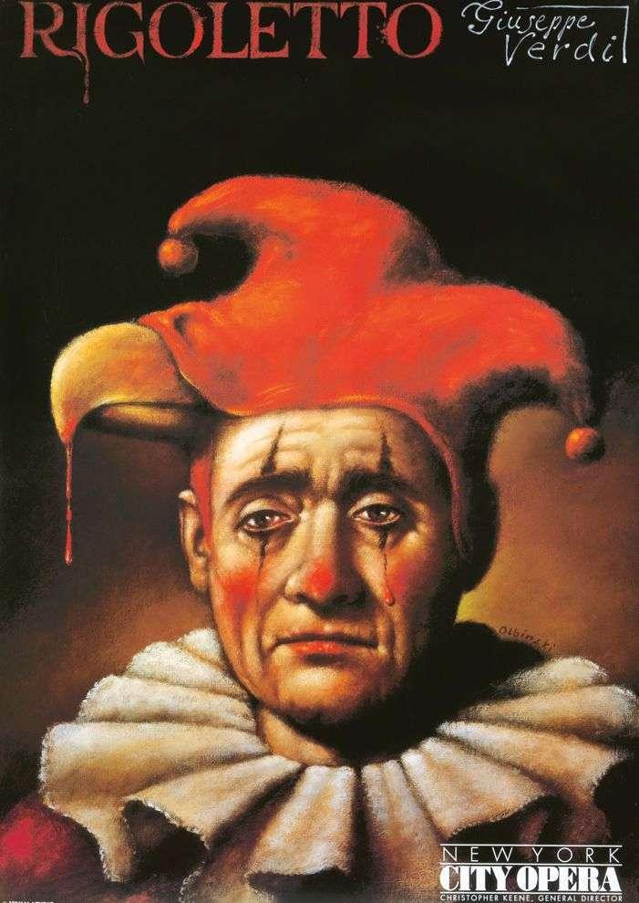 Original Poster Rigoletto New York City Opera Oblinski Clown