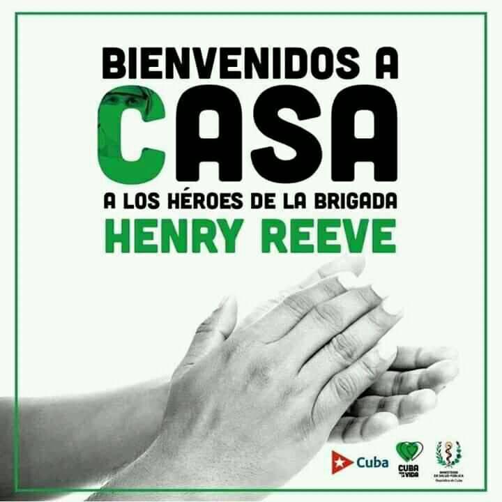 Regresa a cuba Brigada médica Henry Reeve que laboró en Italia