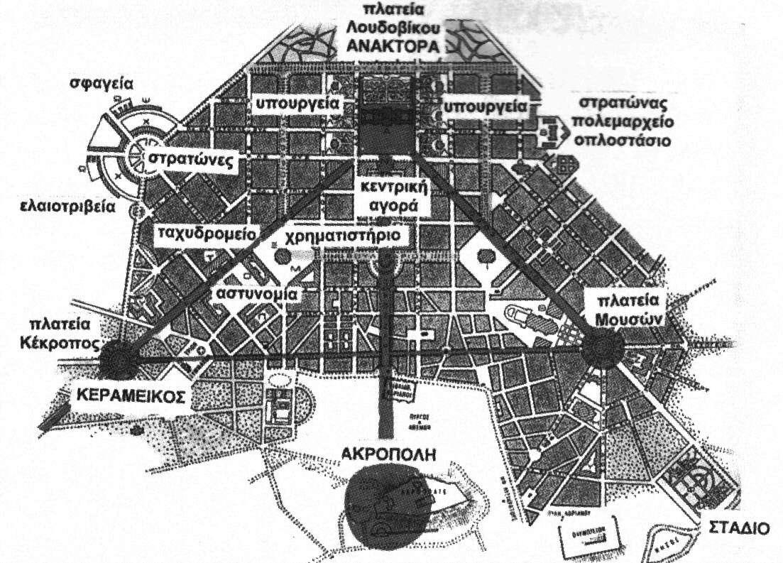 Αθήνα σχέδιο Κλεάνθη Σάουμπερτ