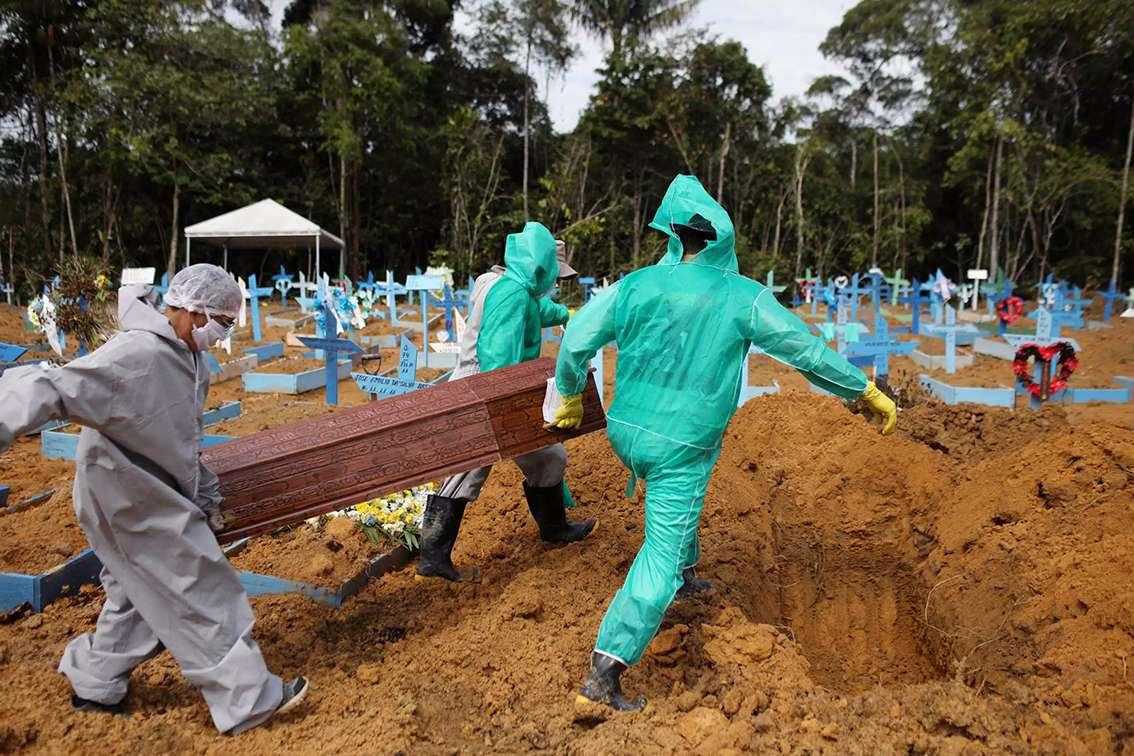 Brasil supera 45 millones de casos de coronavirus
