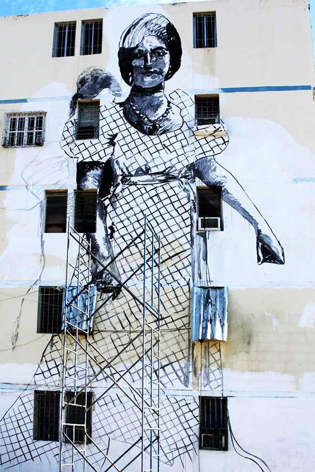 Luisa Cáceres de Arismendi mural