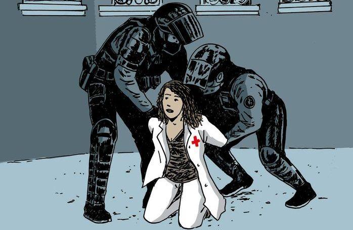 Βία και καταστολή στους ήρωες γιατρούς (ΣΚΙΤΣΟ)