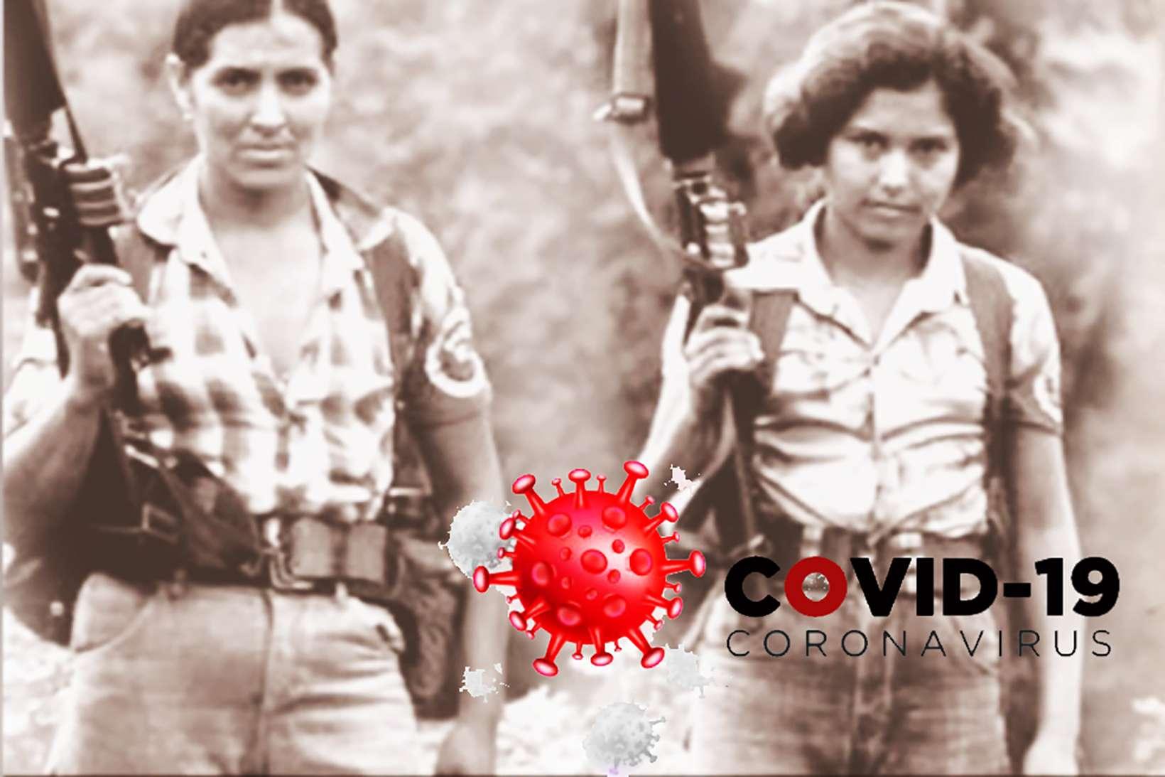 Óleo de una mujer salvadoreña en pandemia
