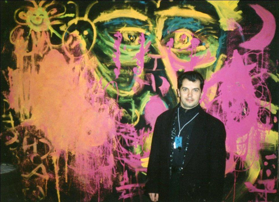 ΕΥΑΓΓΕΛΑΤΟΣ ΣΕ ΕΚΔΗΛΩΣΗ ΓΙΑ ΤΟ ART STUDIO EST ΓΛΑΣΚΩΒΗ 1994