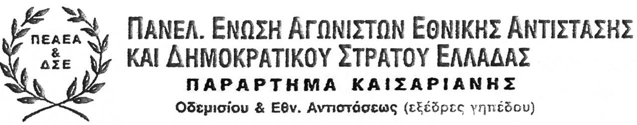 ΠΕΑΕΑ ΔΣΕ Καισαριανής logo