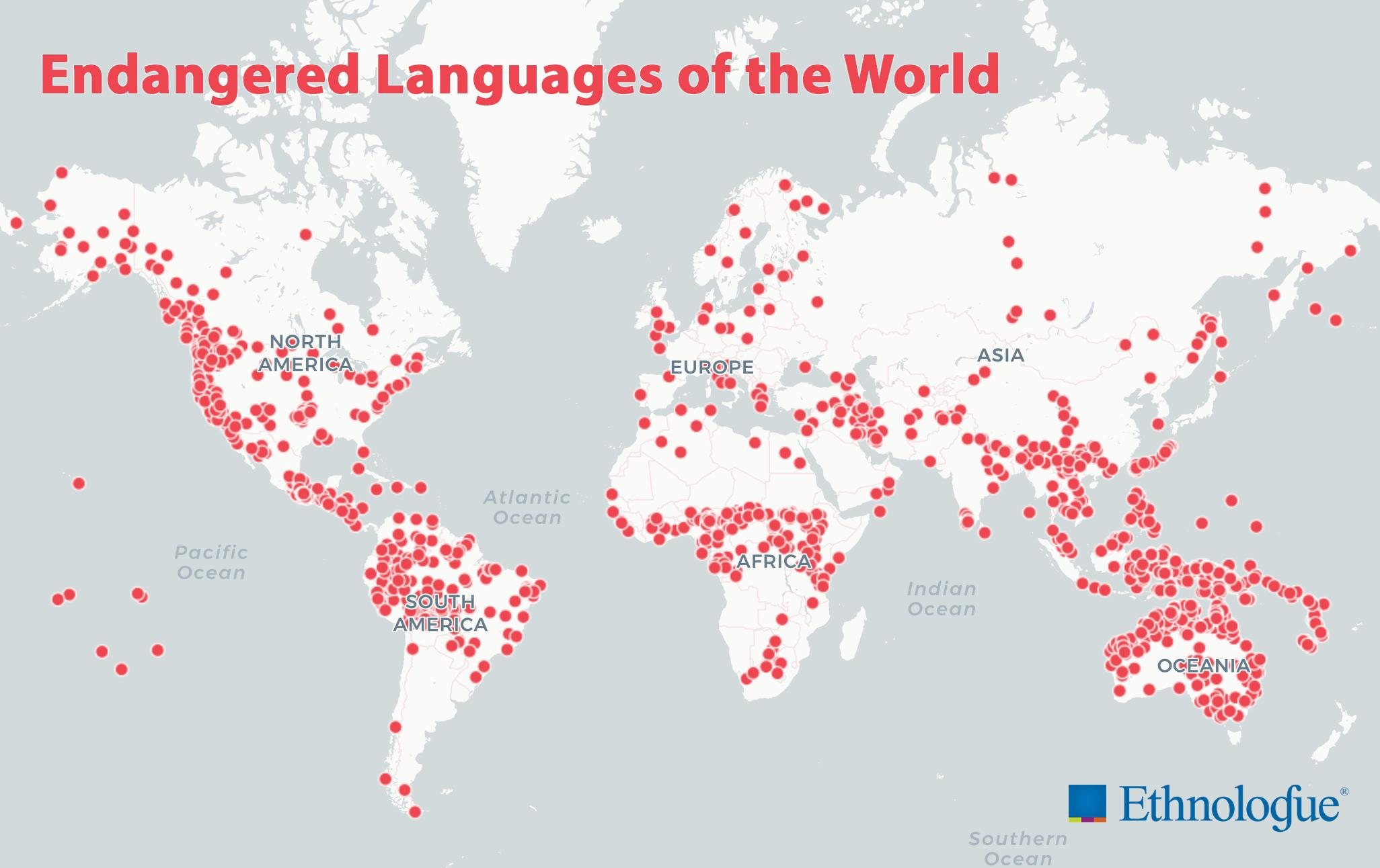 2926 languages endangered as of 2020 – 41 of all living languages