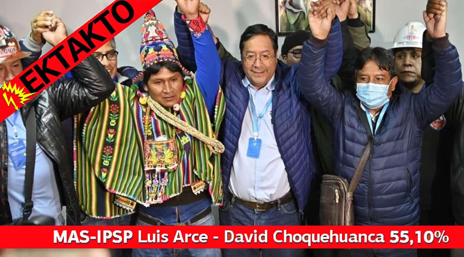 MAS IPSP Luis Arce David Choquehuanca por ciento