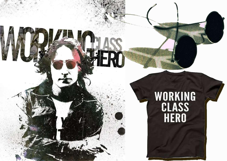 Working class hero Ήρωας της εργατικής τάξης John Lennon