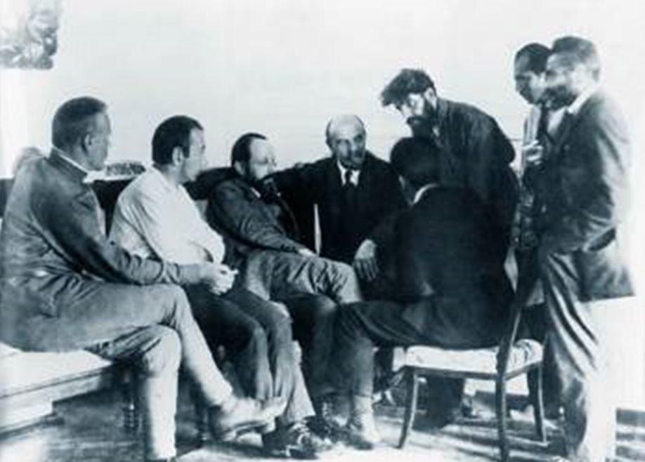 Λένιν Κρεμλίνο 1920 με αντιπροσώπους 3η Διεθνούς Ленина 3-й Интернационал