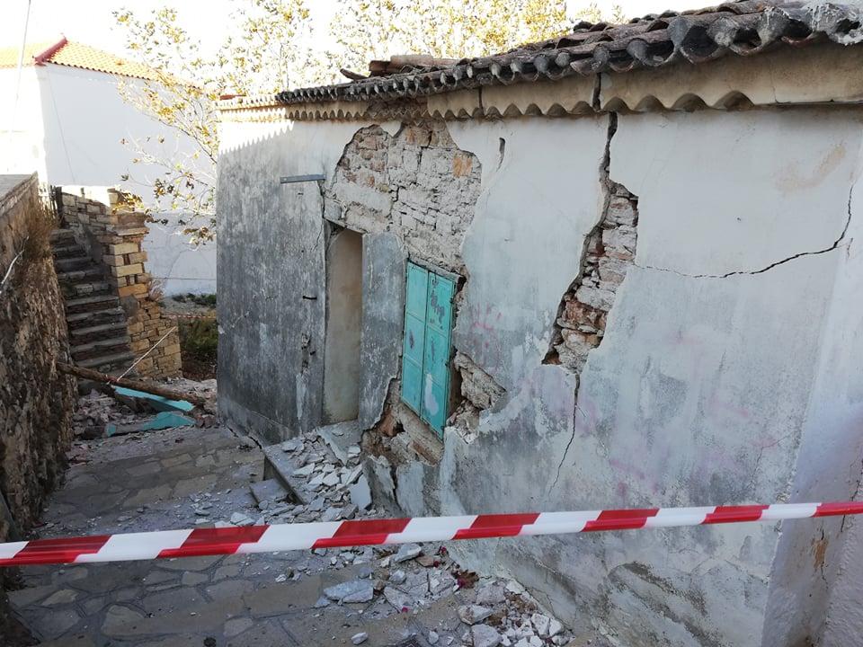 Καρλοβασι Σάμου σεισμός Πλατανος 3