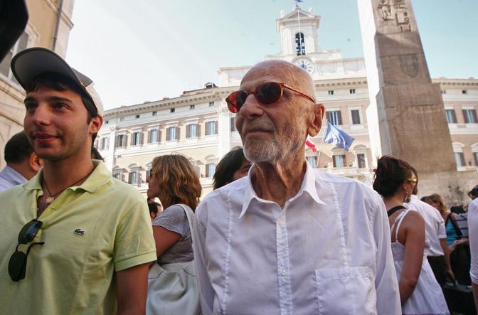 2009 manifestazione degli operatori dello spettacolo a Montecitorio Guaitoli Lannutti
