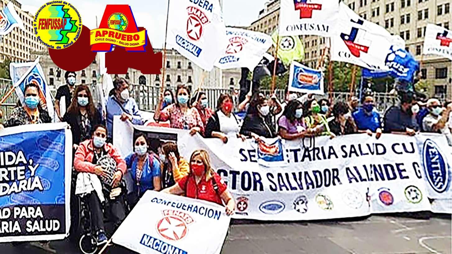 2do día de Huelgas de trabajadores de la salud chilenos