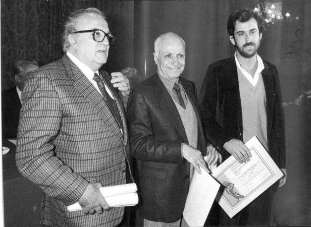 Fellini Monicelli e Moretti nel 1986
