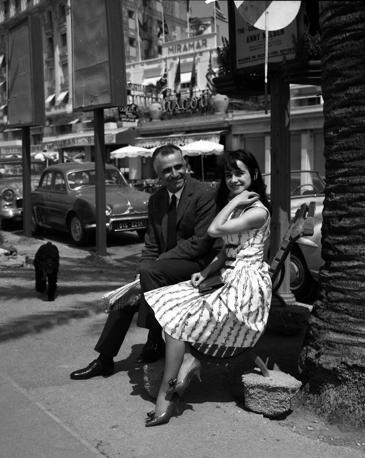 Marisa Solinas & Mario Monicelli XV Festival del cinema di Cannes 1962