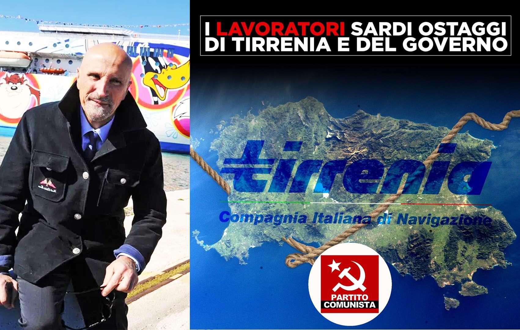 PCI Partito Comunista Italiano I LAVORATORI SARDI OSTAGGIO DI TIRRENIA E DEL GOVERNO
