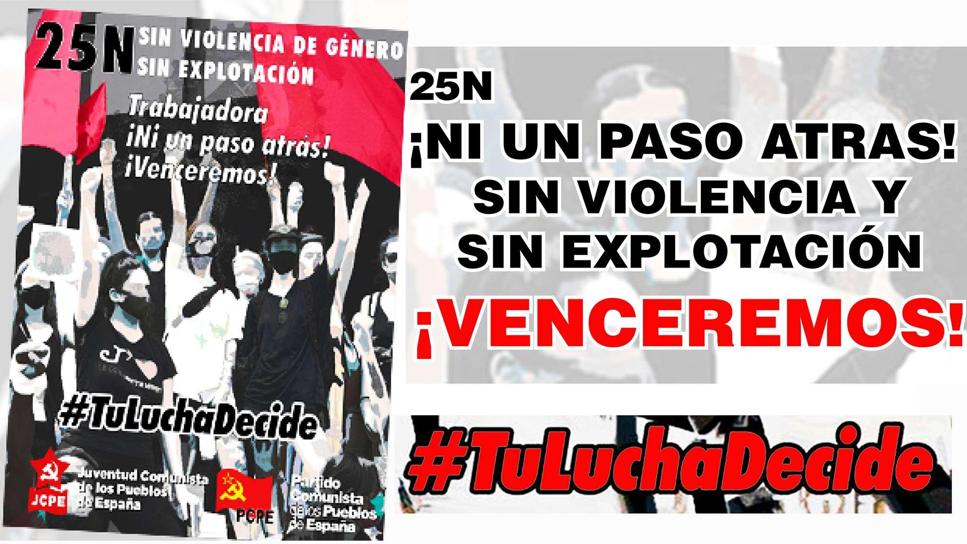 PCPE ΚΚ των λαών της Ισπανίας SIN VIOLENCIA Y SIN EXPLOTACIÓN