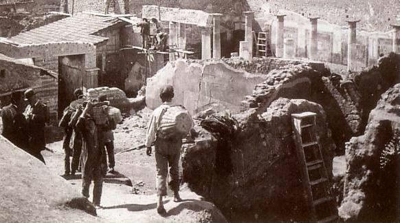 Pompeii Rekonstruktionarbeiten Haus Vettier IX secolo