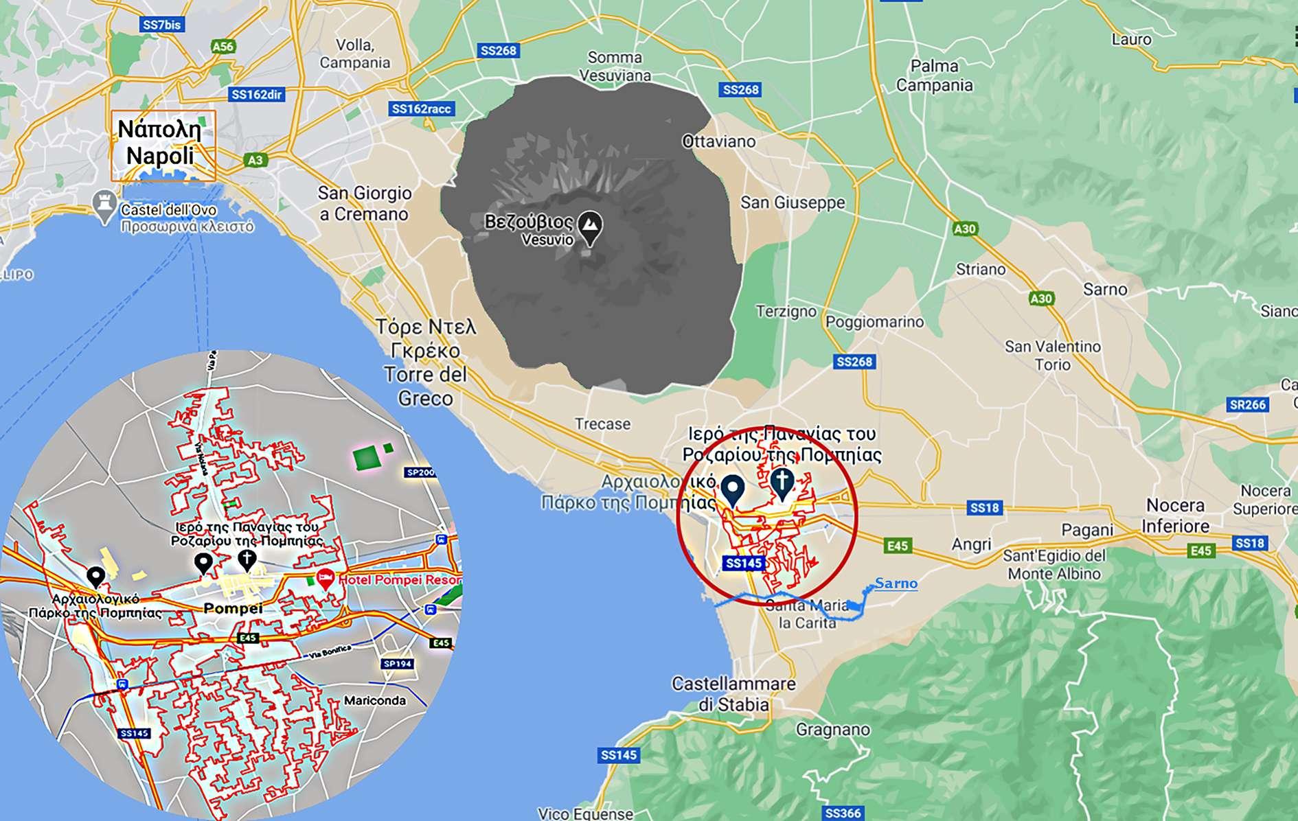 Pompeii carta map