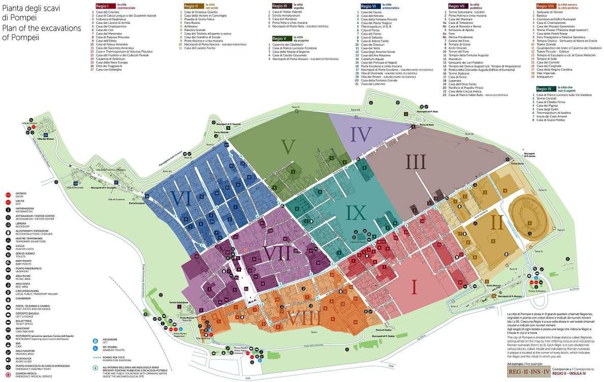 mappa Χάρτης Pompeii