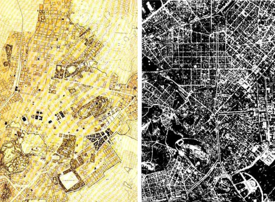 Αθήνα 1924 σχέδιο Επιτροπής Καλλιγά 1940 σχέδιο Π Καραντινού