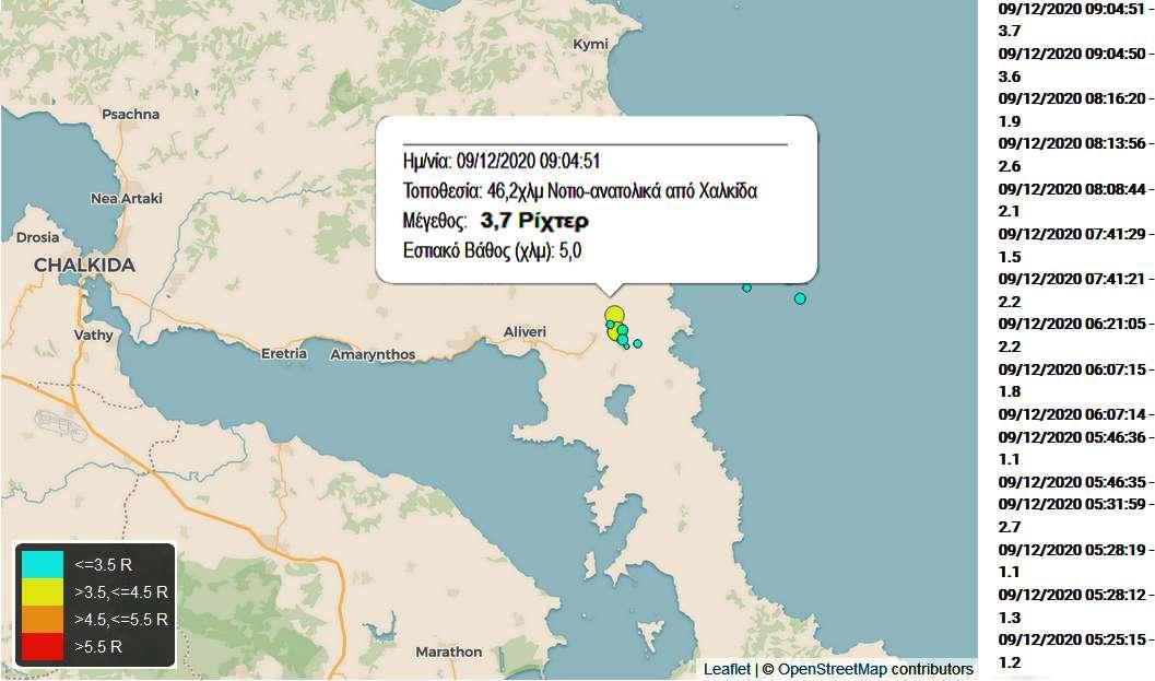 Σεισμός seismos 9 Dic