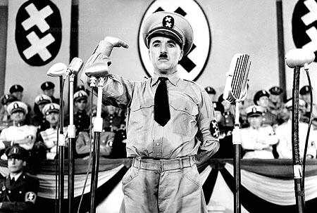 Chaplin Dictator charlie Chaplin as Adenoid Hynkel