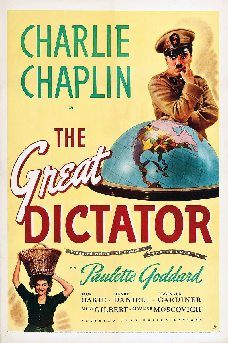 Chaplin The Great Dictator 1940 American poster