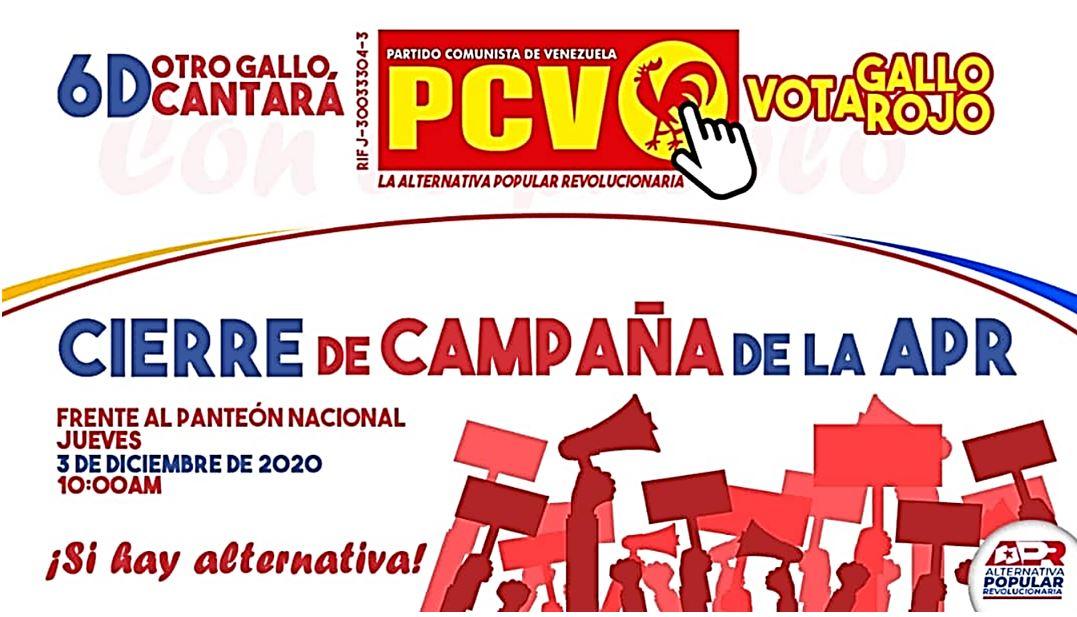 elecciones venezuela 2020 PCV